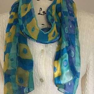 City Silk Co colorful long scarf.